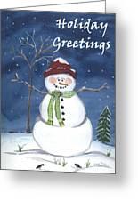 Holiday Greetings Greeting Card
