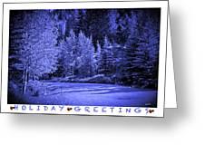 Holiday Greetings - Vail - Colorado Greeting Card
