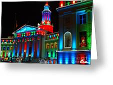 Holiday Lights 2012 Denver City And County Building A1 Greeting Card