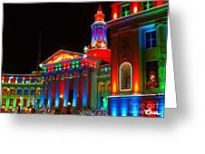 Holiday Lights 2012 Denver City And County Building B2 Greeting Card