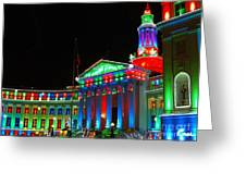 Holiday Lights 2012 Denver City And County Building C1 Greeting Card