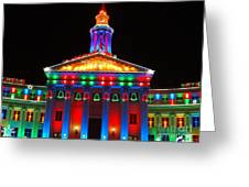 Holiday Lights 2012 Denver City And County Building D3 Greeting Card