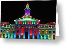 Holiday Lights 2012 Denver City And County Building G1 Greeting Card