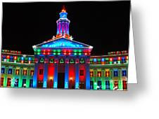 Holiday Lights 2012 Denver City And County Building G2 Greeting Card