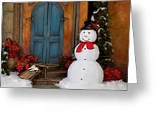 Holiday Snowman Greeting Card
