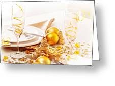 Holiday Table Setting Greeting Card