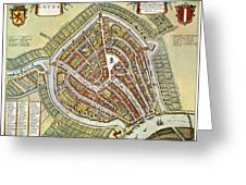 Holland: Gouda Plan, 1649 Greeting Card