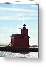 Holland Harbor Lighthouse Greeting Card by Jennifer  King
