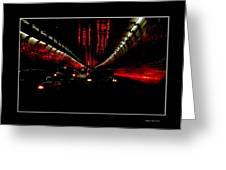 Holland Tunnel Lights Greeting Card