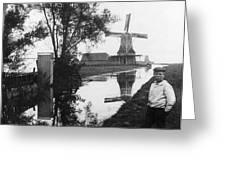 Holland Windmill, C1906 Greeting Card