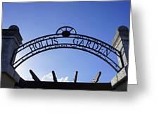 Hollis Gardens Entrance Greeting Card