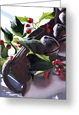 Holly And Bells Greeting Card