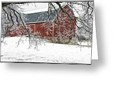 Holly Barn Greeting Card