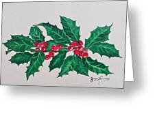 Holly Berries Greeting Card