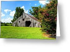 Holly Island Barn Greeting Card
