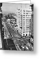 Hollywood And Vine In La Greeting Card