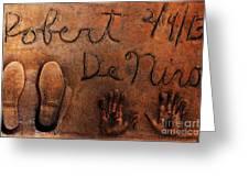 Hollywood Chinese Theatre Robert De Niro 5d29011 Greeting Card
