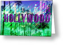 Hollywood Day And Night Greeting Card