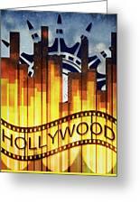 Hollywood Gold Greeting Card