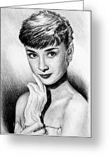 Hollywood Greats Hepburn Greeting Card