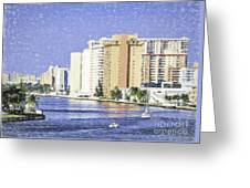 Hollywood In Florida Greeting Card