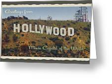 Hollywood Postcard Greeting Card
