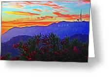 Hollywood Sunset Greeting Card