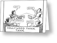 Hollywood Think Tank Greeting Card