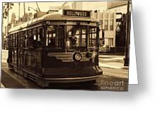 Hollywood Trolley Greeting Card