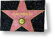 Hollywood Walk Of Fame Elvis Presley 5d28923 Greeting Card