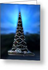 Hollywood Xmas Tree Walt Disney World Greeting Card