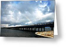 Holmes Beach Bridge Greeting Card