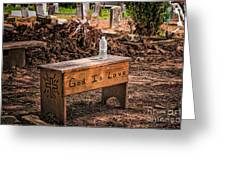 Holt Cemetery - God Is Love Bench Greeting Card
