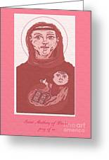 Holy Anthony Of Padua Greeting Card