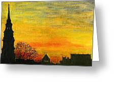 Holy City Sunset Greeting Card