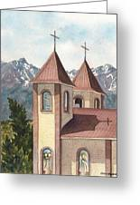 Holy Family Catholic Church In Fort Garland Colorado Greeting Card
