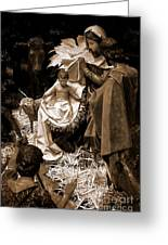 Holy Family Nativity - Color Monochrome Greeting Card