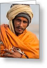 Holy Saffron Greeting Card