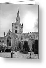 Holy Trinity Church Stratford Upon Avon Greeting Card