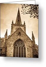 Holy Trinity Stratford On Avon Sepia Greeting Card
