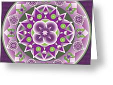 Holy Week Mandala Greeting Card by Linda Pope