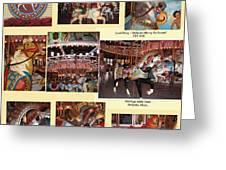 Holyoke Carousel Collage Greeting Card