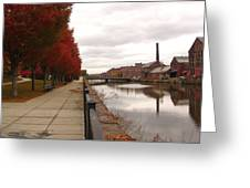 Holyoke Mills And Canal Greeting Card