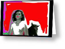 Homage Hedy Lamarr Nude Extasy 1932 Screen Capture Collage 1932-2012 Greeting Card
