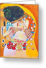 Homage To Master Klimt The Kiss Greeting Card