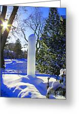 Homage To Winter In The City Greeting Card