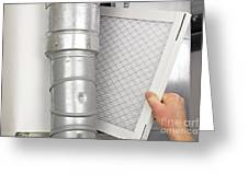 Home Air Filter Replacement Greeting Card