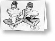 Home Boys Too Greeting Card by Ron Watson