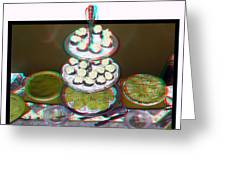 Home For The Holidays - Use Red-cyan 3d Glasses Greeting Card