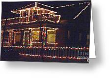 Home Holiday Lights 2011 Greeting Card by Feile Case
